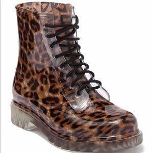 Madden Girl Leopard Rain Boots